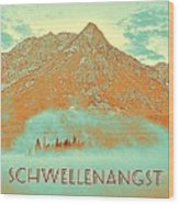 Motivational Travel Poster - Schwellenangst 2 Wood Print