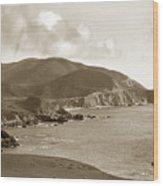 Notleys Landing Big Sur Coast Circa 1933 Wood Print