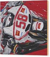 Moto Gp Simoncelli Honda 58 Wood Print