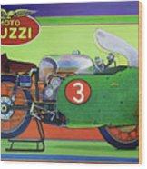 Moto Guzzi V8 Wood Print
