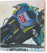 Motogp - Maverick Full Gas  Wood Print