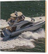 Motor Boat 2 Wood Print