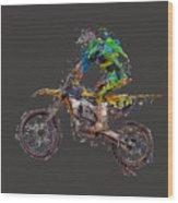 Motorbiker Wood Print