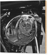 Motorcycle Wood Print