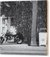 Motorcycle In Big Spring Tx Wood Print