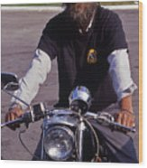 Motorcycle Minister Wood Print
