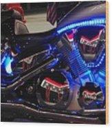 Motorcycle Mirror Wood Print