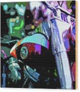 Motorcycle Poster IIi Wood Print