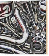 Motorcycle Reds Wood Print