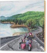 Motorcycle Ride Wood Print