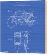Motorcycle Sidecar Patent 1912 - Blueprint Wood Print