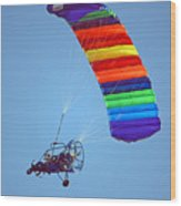 Motorized Parasail 2 Wood Print