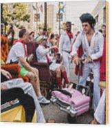 Motorized Recliners And Elvis - Nola Wood Print