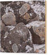 Mottled Stones Wood Print