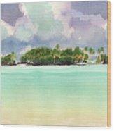 Motu Rapota, Aitutaki, Cook Islands, South Pacific Wood Print