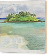 Motu Taakoka Wood Print