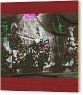 Moulin Rouge Homage Diamond Tooth Gerties Chorus Line Dawson City Yukon Territory Canada 1977-2008 Wood Print