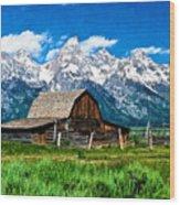 Moulton Barn Impressions Wood Print