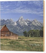 Moulton Barn In The Tetons Wood Print