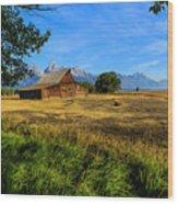Moulton Barn Jackson Hole Wood Print