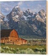 Moulton Barn Wood Print by Randall Roberts