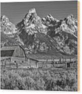 Moulton Cabin - Grand Tetons II Wood Print