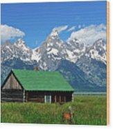 Moulton Cabin Wood Print