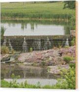 Mound Lake Dam 2 Wood Print