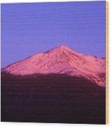 Mount Adams At Sunrise Wood Print