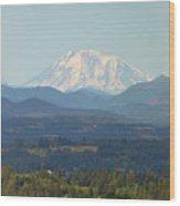 Mount Adams In Washington State Wood Print