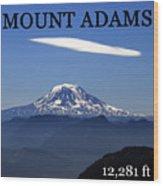 Mount Adams Poster  Wood Print