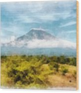 Mount Agung On The Island Paradise Of Bali Wood Print