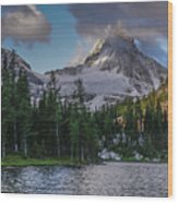 Mount Assiniboine In Clouds Wood Print