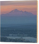 Mount Baker At Sunrise Wood Print