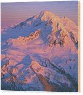 Mount Baker At Sunset Wood Print