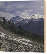 Mount Baker From The Lake Ann Trail 2 Wood Print