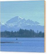 Mount Baker From The Spit Wood Print