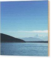 Mount Baker Looms Wood Print