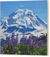Mount Baker Wildflowers Wood Print