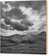 Mount Bierstadt Black And White Wood Print