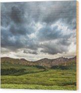 Mount Bierstadt Cloudy Evening 2x1 Wood Print