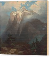 Mount Brewer From King's River Canyon - California Wood Print
