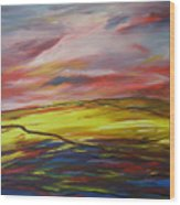 Mount Callan Sunlight Wood Print