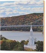 Mount Carmel And The Mid Hudson Bridge Wood Print