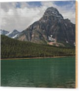 Mount Chephren From Waterfowl Lake - Banff National Park Wood Print