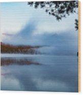 Mount Chocorua Peeks Above The Fog Wood Print