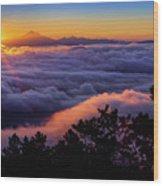 Mount Constitution Sunrise Wood Print