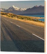 Mount Cook Road Wood Print