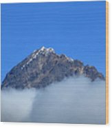 Mount Cotacachi Above The Clouds Wood Print