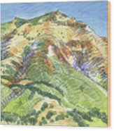 Mount Diablo From Curry Valley Ridge Wood Print